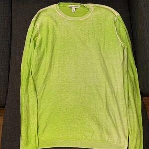 Lightweight Cashmere Blend Lime Crewneck